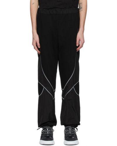 Ze sznurkiem do ściągania czarny spodnie z kieszeniami z wiskozy Mcq Alexander Mcqueen