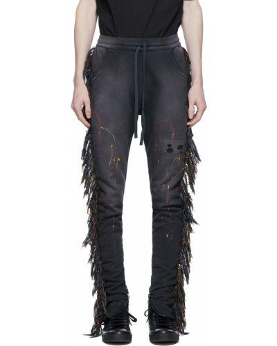 Czarne spodnie srebrne vintage Alchemist