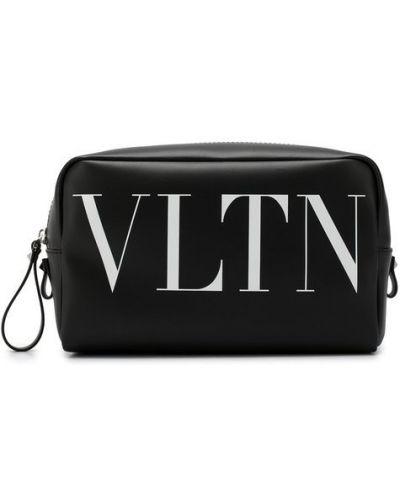 Несессер кожаный с логотипом Valentino