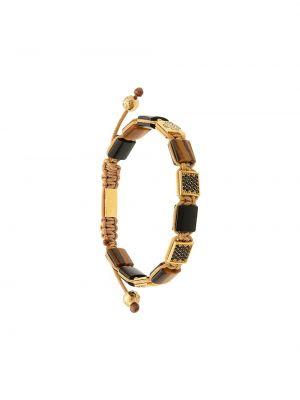 С ониксом синий браслет позолоченный Nialaya Jewelry