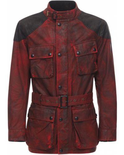 Bawełna bawełna kurtka z łatami z kołnierzem Belstaff