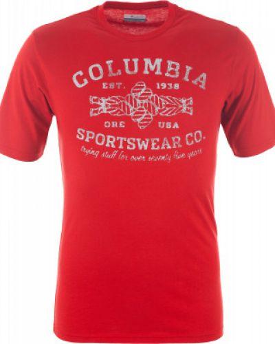Спортивная футболка хлопковая прямая Columbia