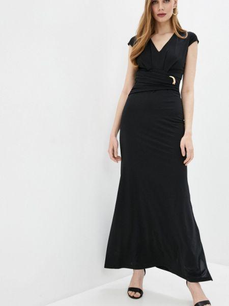 Вечернее платье черное весеннее Cavalli Class