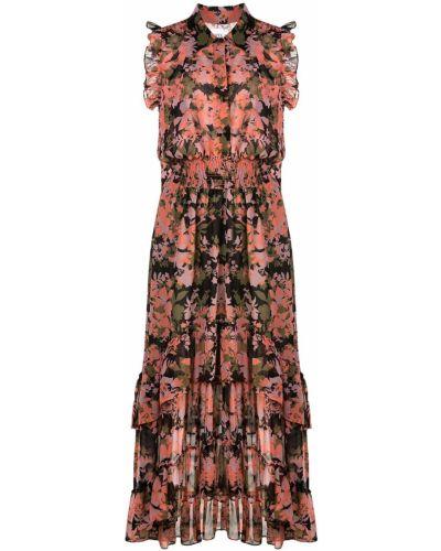 Платье розовое с цветочным принтом Misa Los Angeles