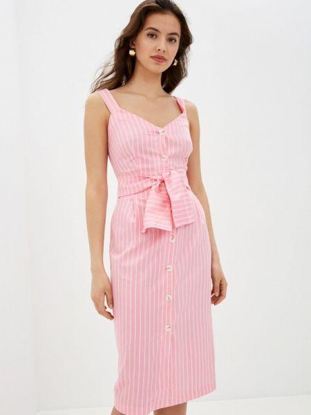 Розовое прямое платье Zarina