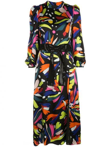 Платье миди с абстрактным принтом расклешенное Olivia Rubin