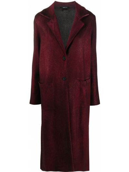 Однобортное красное кашемировое пальто классическое Avant Toi