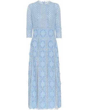 Платье миди футляр с кружевными рукавами Costarellos