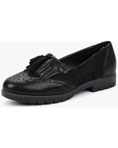 Черные туфли из нубука Vh