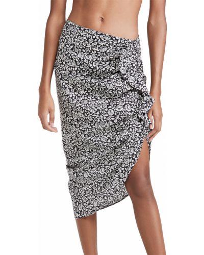 Czarna spódnica ołówkowa bawełniana z printem Veronica Beard
