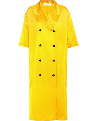 Желтое пальто Victoria Beckham