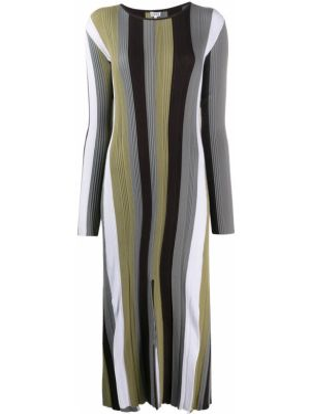 Платье миди в рубчик с рукавами Loewe