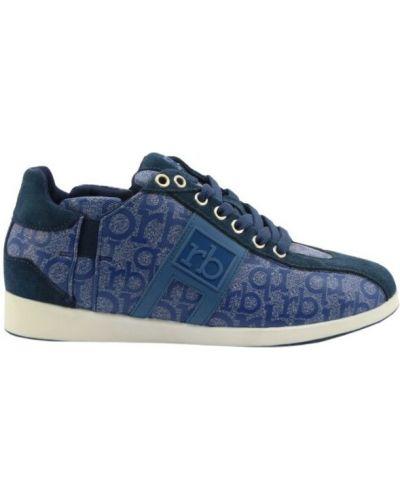 Niebieskie sneakersy Roccobarocco