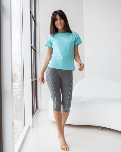 Хлопковая серая большая футболка Barwa Garments