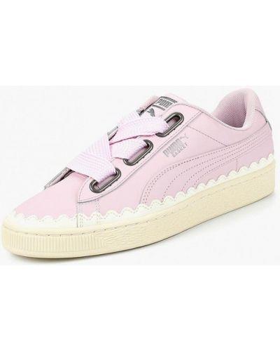 Розовые низкие кеды Puma