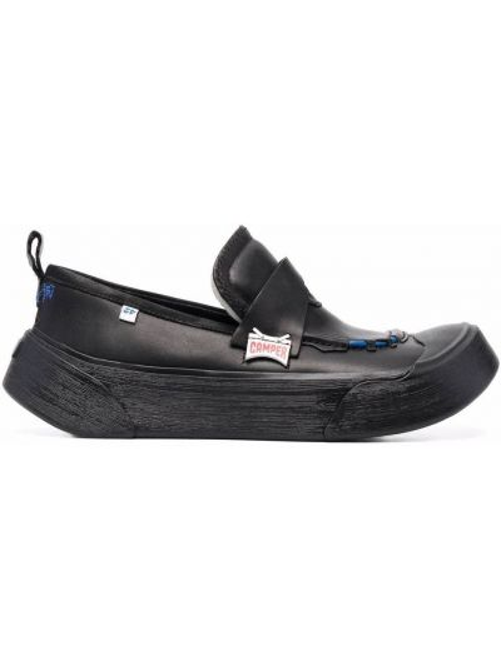 Loafers na obcasie - czarne Camper