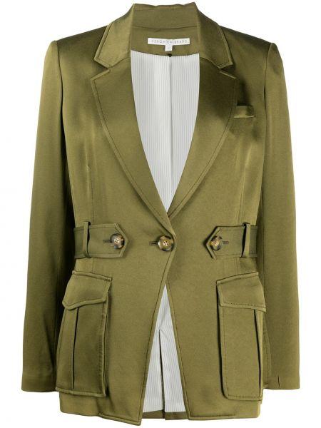 Деловой однобортный удлиненный пиджак из вискозы на пуговицах Veronica Beard