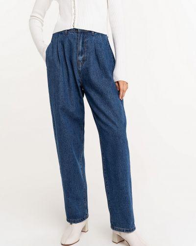 Широкие джинсы с завышенной талией - синие Befree