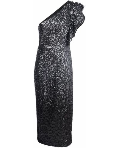 Асимметричное платье миди с пайетками с подкладкой Marchesa Notte