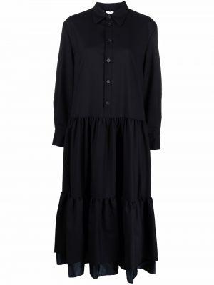 Шерстяное платье макси - черное Comme Des Garçons Noir Kei Ninomiya