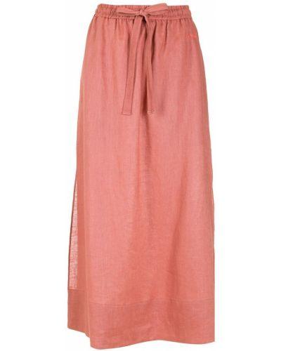 Розовая юбка с разрезом НК