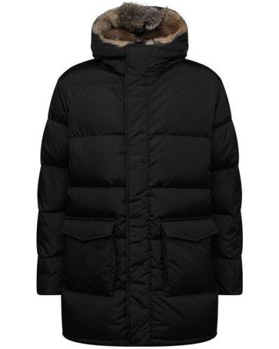 Черная пуховая куртка с капюшоном Lempelius