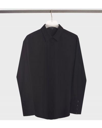 Хлопковая рубашка - черная Barbara Bui