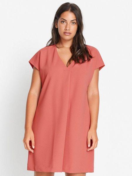 Повседневное розовое платье Violeta By Mango