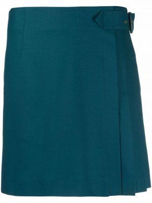 Синяя шерстяная юбка Alberta Ferretti