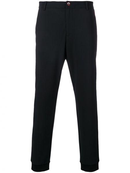 Черные брюки с карманами с манжетами Roberto Cavalli
