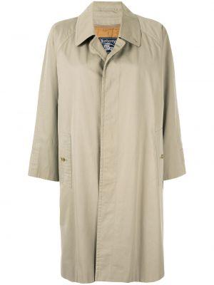 Прямое пальто с воротником с рукавом реглан на пуговицах Burberry Pre-owned