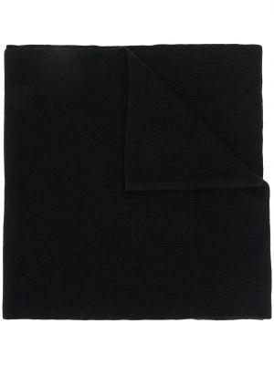 Czarny akryl szalik przycięte Karl Lagerfeld