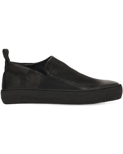 Czarne sneakersy skorzane The Last Conspiracy