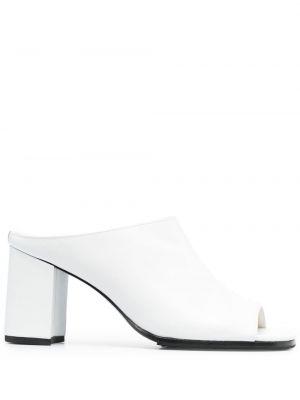Białe majtki skorzane peep toe Junya Watanabe