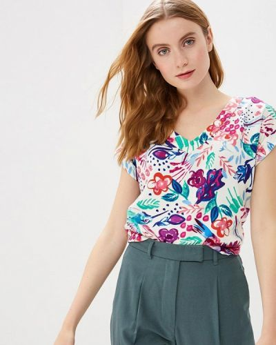 Блузка с коротким рукавом белая весенний Savage