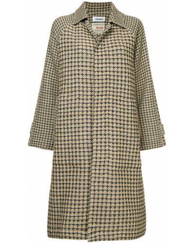 Пальто классическое с капюшоном с воротником на пуговицах Coohem