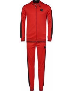 Хлопковый спортивный костюм - красный Plein Sport