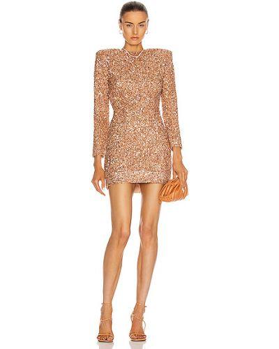 Sukienka na imprezę koronkowa z wiskozy z siateczką Retrofete