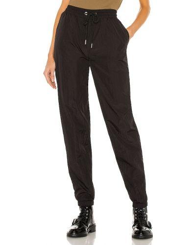 Włókienniczy czarny dres z mankietami Lna