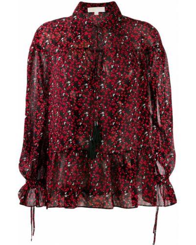 Блузка с длинным рукавом в полоску батник Michael Kors Collection