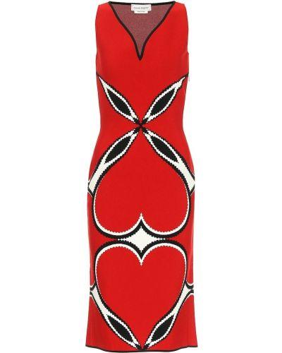Платье миди из вискозы Alexander Mcqueen