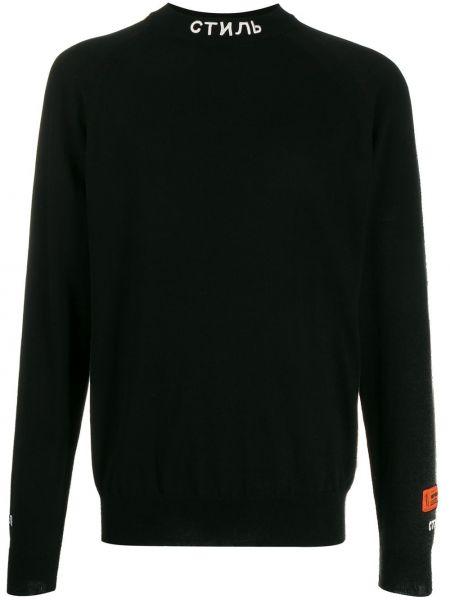 Черный свитер Heron Preston