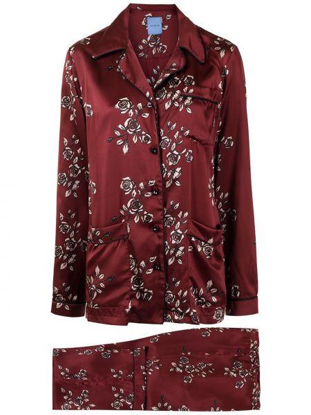 Шелковая пижама - красная Macgraw