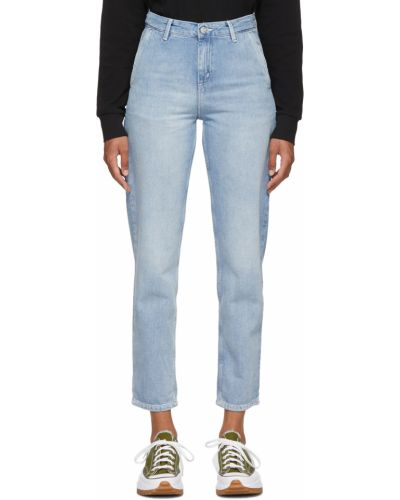 Mom jeans srebrne - niebieskie Carhartt Work In Progress