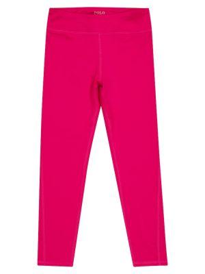 Różowe legginsy Polo Ralph Lauren Kids