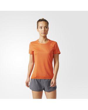 Pomarańczowe polo krótki rękaw Adidas