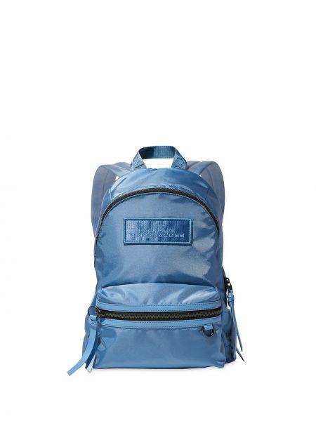 Z paskiem niebieski plecak z łatami na paskach Marc Jacobs