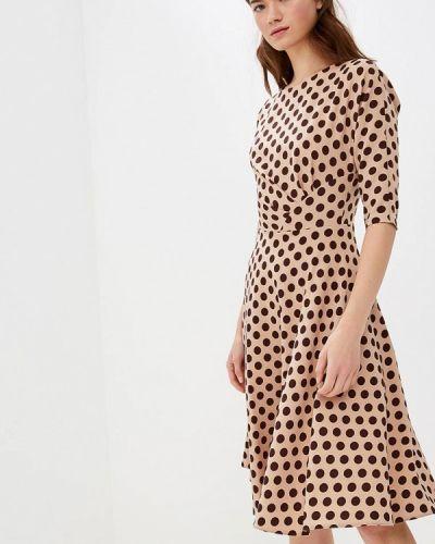 Платье осеннее бежевое Anastasia Kovall