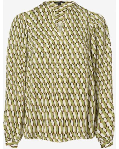 Satyna zielony bluzka zabytkowe Comma
