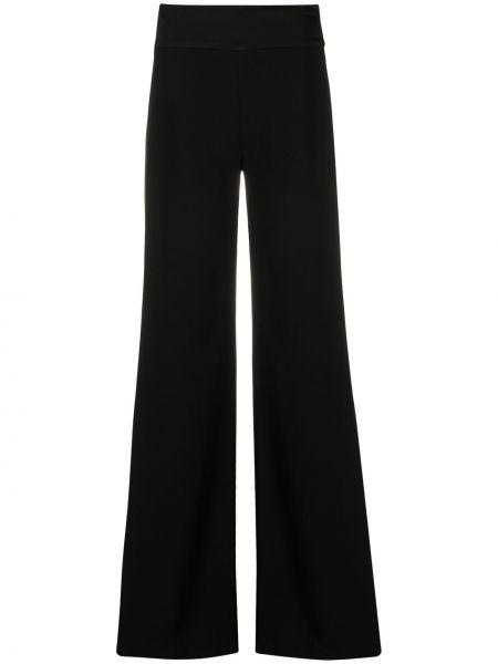 Черные свободные брюки свободного кроя с высокой посадкой Galvan